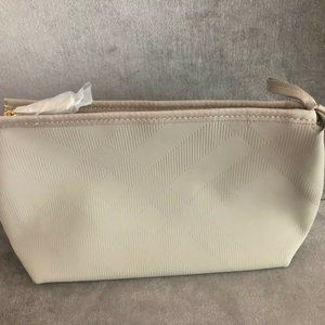 NEW Burberry Cosmetic Beauty Bag GWP Beige
